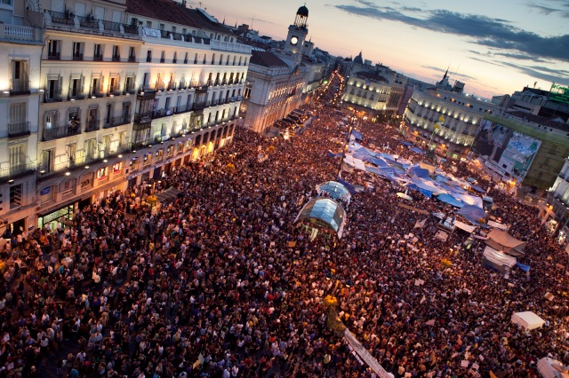 Puerta del Sol, 20 May 2011, by Julio Albarran under cc-by-nc-sa; #15m #spanishrevolution #democraciarealya #realdemocracynow #globalchange