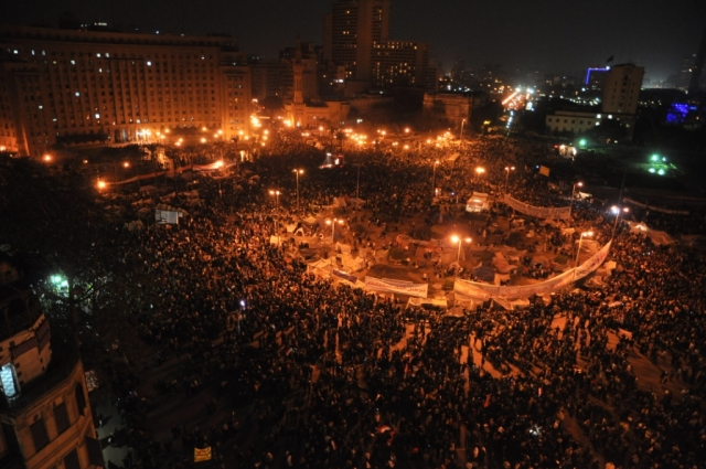 Tahrir Square, 12 February 2011, by Nebedaay under cc-by-nc-sa; #jan25 #egyptianrevolution #arabspring #globalchange