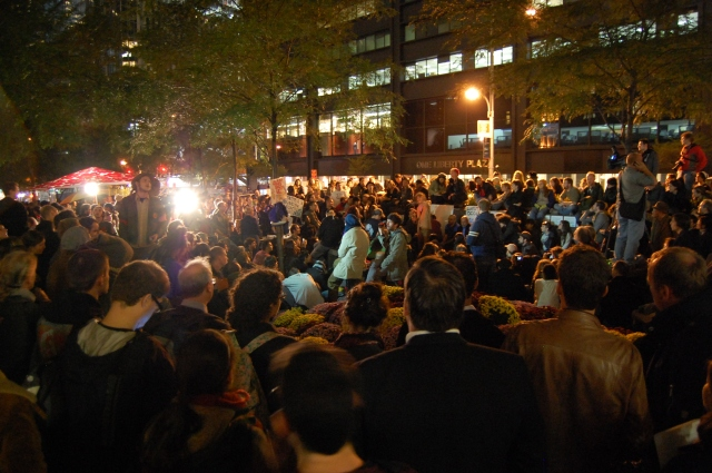 Zuccotti Park, 4 October 2011, by Bogieharmond under cc-by; #ows #occupywallst #occupywallstreet #occupy #globalchange