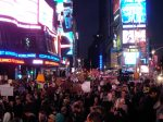 Times Square, 15 October 2011, by Pameladrew212 under cc-by-nc; #ows #occupywallst #occupywallstreet #occupy #globalchange